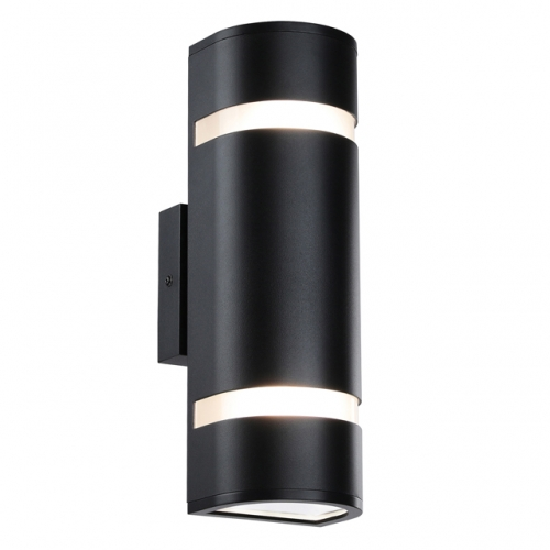 Outdoor Wall Light in D Shape with Aluminum Modern Wall Sconce Black Water Proof Wall Mount Light Suitable for Garden & Patio  XB-W1112-BK