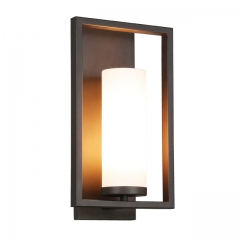 Wall Sconce 1 Light Bathroom Vanity Light with Acrylic Shade, Modern Sconces Wall Lighting in Dark Bronze with Gu24 Bulb for Kitchen & Corridor XB-W1143-DB