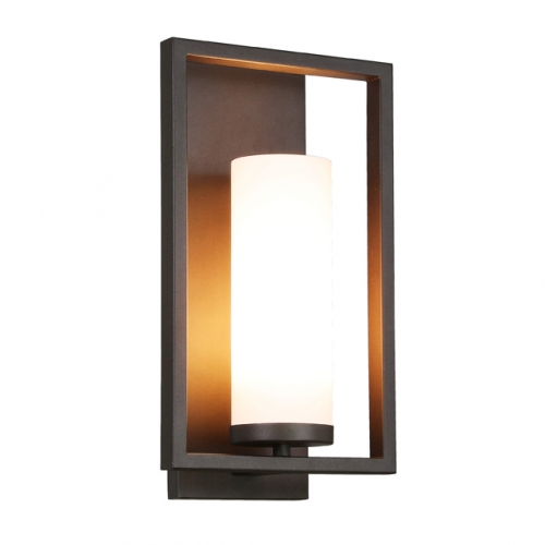 Wall Sconce 1 Light Bathroom Vanity Light with Acrylic Shade, Modern Sconces Wall Lighting in Dark Bronze for Kitchen & Corridor XB-W1143-DB