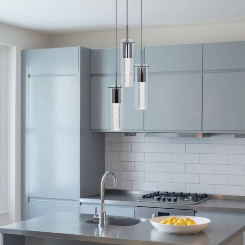 Pendant Lighting, Kitchen Island Cluster Pendant Light 3 Light with Crystal and LED Bulb XB-P1110-3-CH